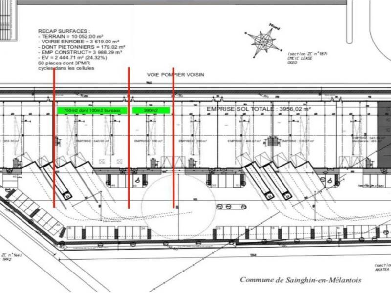 Activités à louer | Sainghin En Melantois (59262) Surface : 390 m2 Réf. 817952