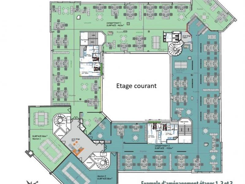 Bureaux à louer   Marcq En Baroeul (59700) Surface : de 741 m2 à 5656 m2 Réf. 850186