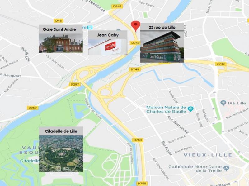 Bureaux à louer | Saint Andre Lez Lille (59350) Surface : de 244 m2 à 742 m2 Réf. 805231