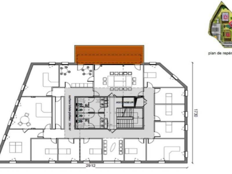 Bureaux à louer | Villeneuve D'ascq (59650) Surface : de 344 m2 à 4095 m2 Réf. 842086