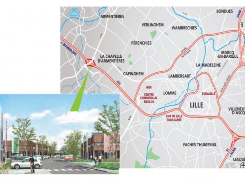 Activités à vendre / à louer | La Chapelle D'armentieres (59930) Surface : de 300 m2 à 2000 m2 Réf. 765567