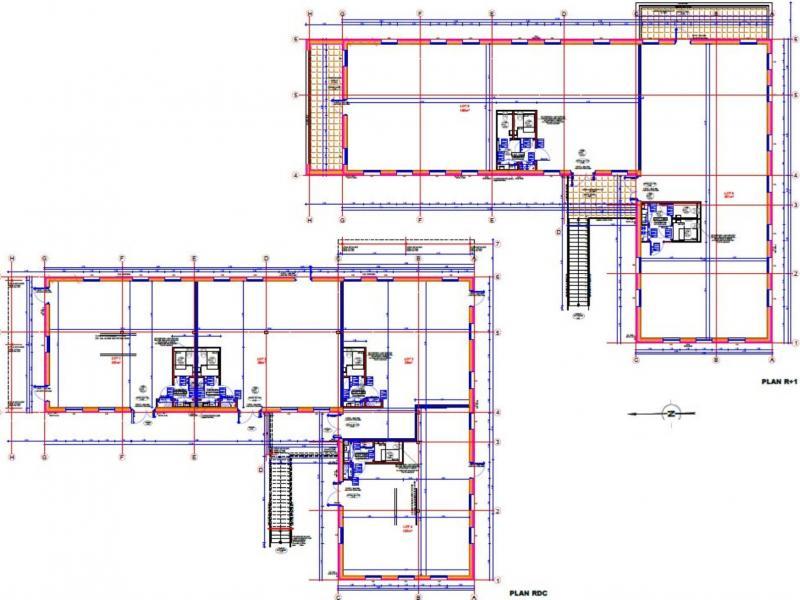 Bureaux à vendre / à louer | Roncq (59223) Surface : de 199 m2 à 1799 m2 Réf. 761302