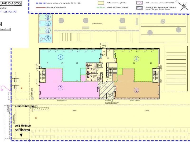 Bureaux à vendre / à louer | Villeneuve D'ascq (59650) Surface : de 144 m2 à 2888 m2 Réf. 783176