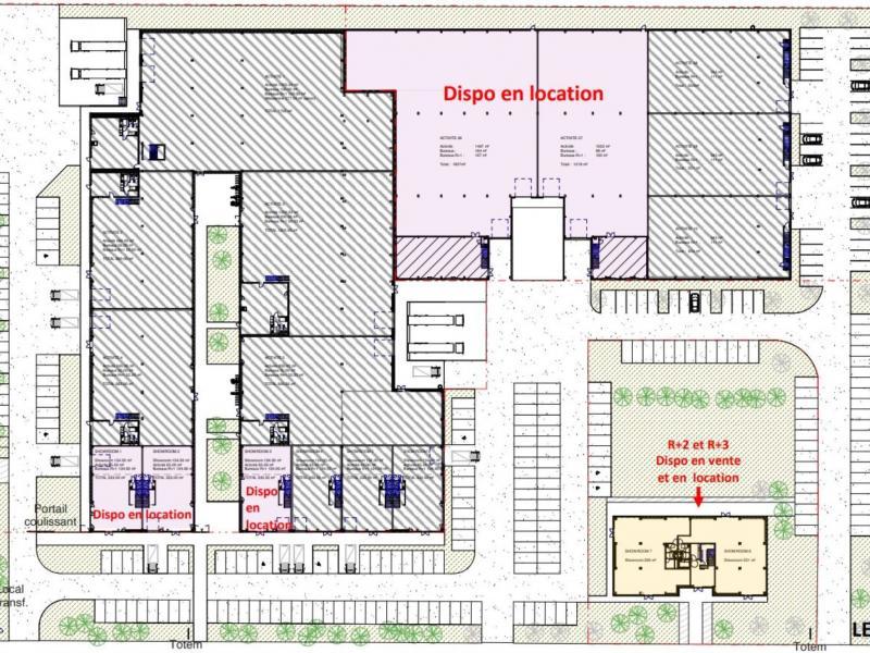 Locaux d'activités à vendre / à louer | Lesquin (59810) Surface : De 221.4 m2 à 7889.7 m2 Réf. 765054