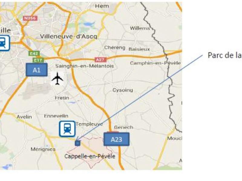 Terrain à vendre | Cappelle En Pevele (59242) Surface : de 3581 m2 à 15232 m2 Réf. 766297